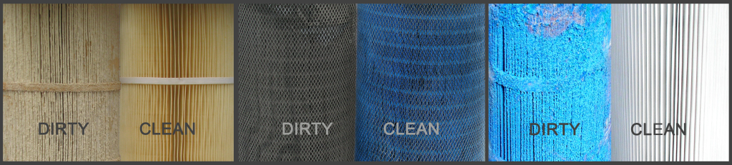 dust cartridge filters cleaning reconditioning